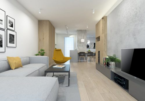 Projekt mieszkania 67m2 Poznań