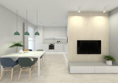 Projekt mieszkania 70m2 – Poznań