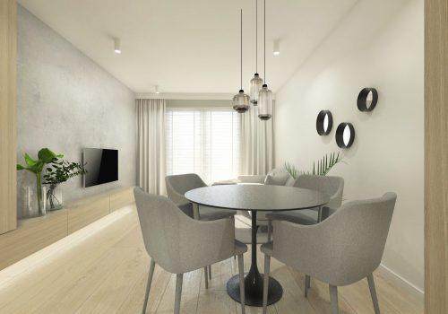 Projekt mieszkania 61,5m2 Poznań